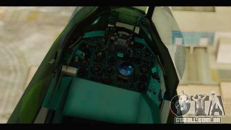 Mikoyan-Gurevich MIG-21UM Vietnam Air Force v2.0 para GTA San Andreas vista traseira