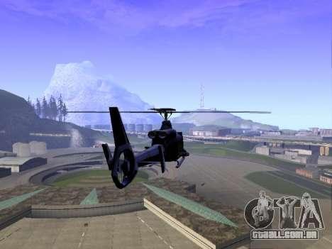 GTA 5 Valkyrie para GTA San Andreas traseira esquerda vista