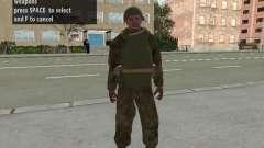 Os soldados do exército vermelho na armadura