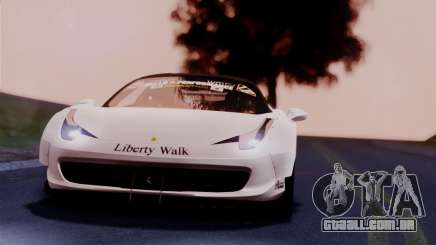 Ferrari 458 Italy Liberty Walk LB Performance para GTA San Andreas