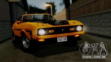 Ford Mustang Mach 1 429 Cobra Jet 1971 HQLM para GTA San Andreas