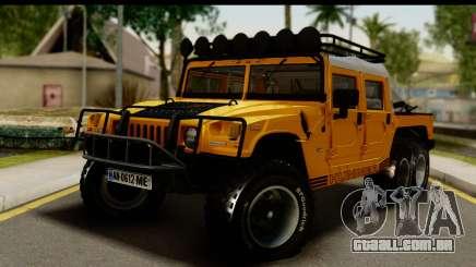 Hummer H1 6-Wheel para GTA San Andreas