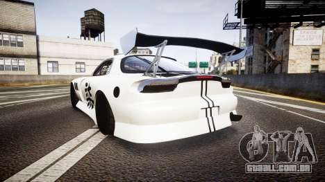 Mazda RX-7 Mad Mike Final Update three PJ para GTA 4 traseira esquerda vista