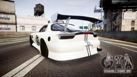 Mazda RX-7 Mad Mike Final Update three PJ para GTA 4 traseira esquerda vista