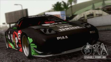 Acura NSX Miku Ghoul Itasha para GTA San Andreas vista superior