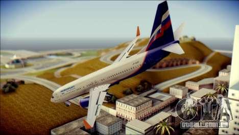 Boeing 737-800 Aeroflot para GTA San Andreas esquerda vista