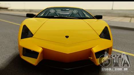 Lamborghini Reventon 2008 para GTA San Andreas traseira esquerda vista