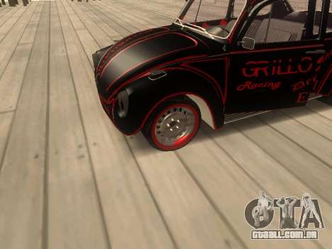 Volkswagen Super Beetle Grillos Racing v1 para GTA San Andreas vista traseira