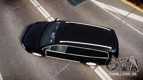 Volkswagen Passat B7 Police 2015 [ELS] unmarked para GTA 4 vista direita