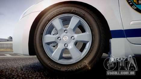 Nissan Altima Hybrid NYPD para GTA 4 vista de volta