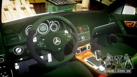 Mercedes-Benz C180 FlyUS para GTA 4 vista de volta