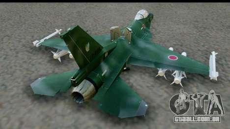 F-2A Zero Dark Green para GTA San Andreas vista direita