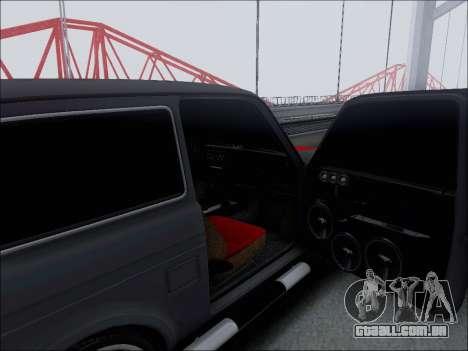 Lada Niva para GTA San Andreas vista superior