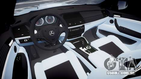 BMW X6 Tycoon EVO M 2011 Hamann para GTA 4 vista de volta