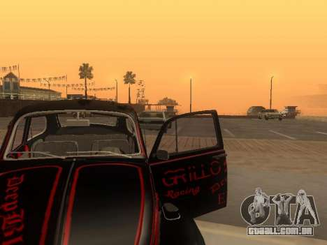 Volkswagen Super Beetle Grillos Racing v1 para GTA San Andreas vista superior