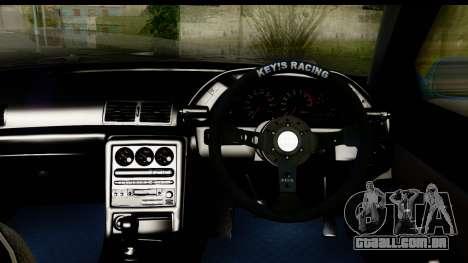 Nissan Skyline R32 para GTA San Andreas vista interior