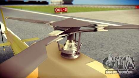 Esquilo 350 Fuerza Aerea Paraguaya para GTA San Andreas vista traseira