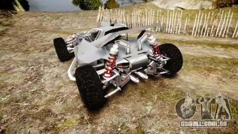 Buggy X para GTA 4 traseira esquerda vista