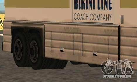 Coach Fixed para GTA San Andreas esquerda vista