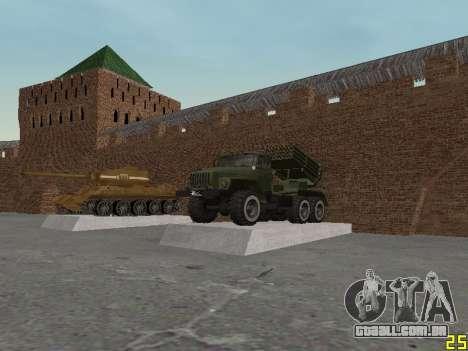 Ural 375 Grad MLRS para GTA San Andreas vista interior