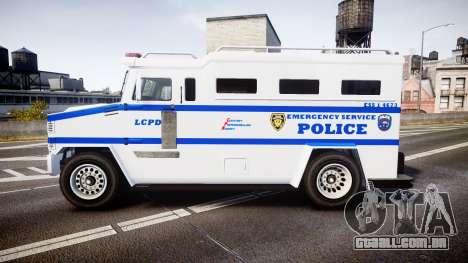 GTA V Brute Police Riot [ELS] skin 4 para GTA 4 esquerda vista