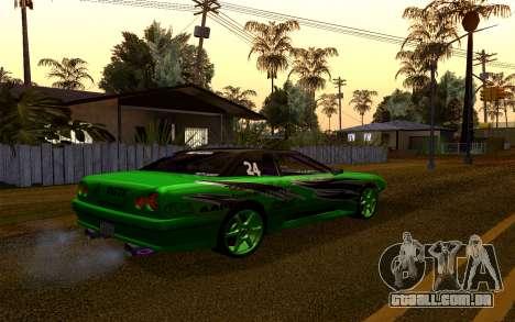 DGTK Elegy v1 para GTA San Andreas vista traseira