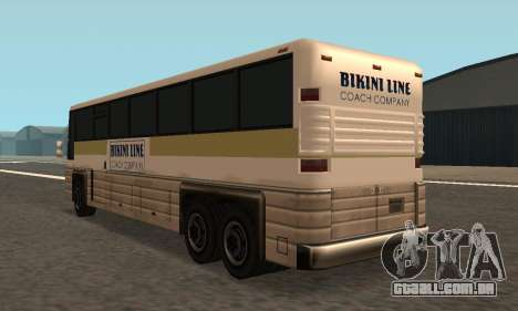 Coach Fixed para GTA San Andreas traseira esquerda vista