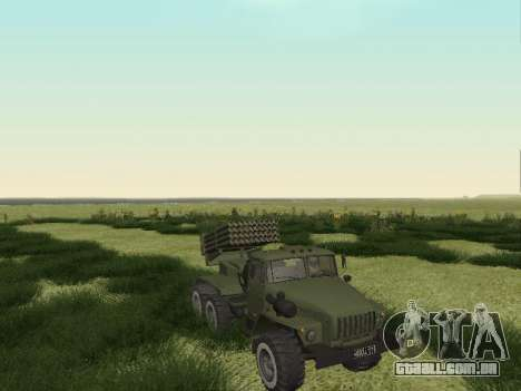 Ural 375 Grad MLRS para GTA San Andreas traseira esquerda vista