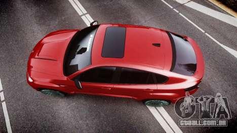 BMW X6 Tycoon EVO M 2011 Hamann para GTA 4 vista direita