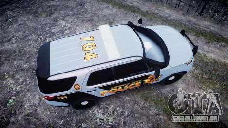 Ford Explorer Police Interceptor [ELS] marked para GTA 4 vista direita