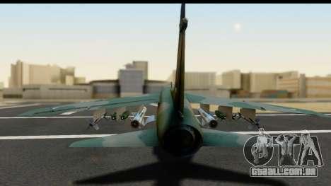 Ling-Temco-Vought A-7 Corsair 2 Belkan Air Force para GTA San Andreas vista traseira