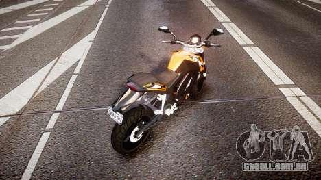 KTM 125 Duke para GTA 4 traseira esquerda vista