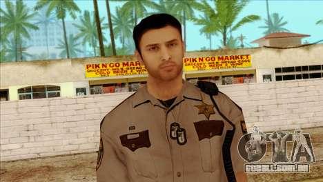Depurty Alex Shepherd Skin without Flashlight para GTA San Andreas terceira tela