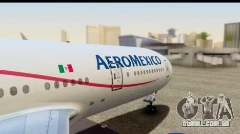 Boeing 777-200ER AeroMexico para GTA San Andreas vista direita