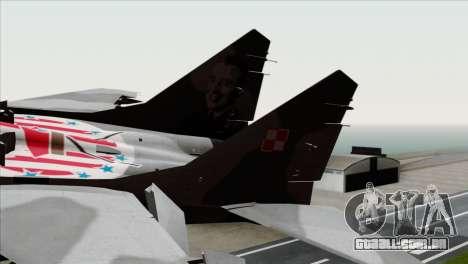 MIG-29A Polish Air Force Kosynierzy para GTA San Andreas traseira esquerda vista