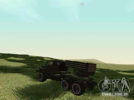 Ural 375 Grad MLRS para GTA San Andreas vista direita