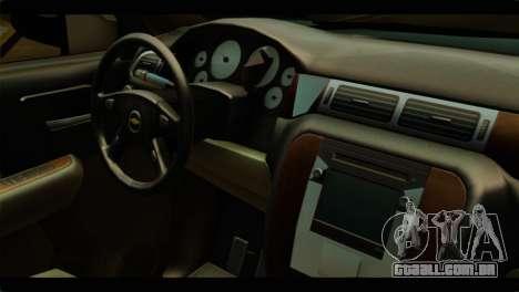 Chevrolet Suburban 2010 NFS para GTA San Andreas vista direita