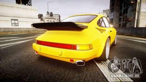 RUF CTR Yellow Bird para GTA 4 traseira esquerda vista