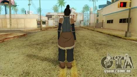 Korra Skin from The Legend Of Korra para GTA San Andreas segunda tela