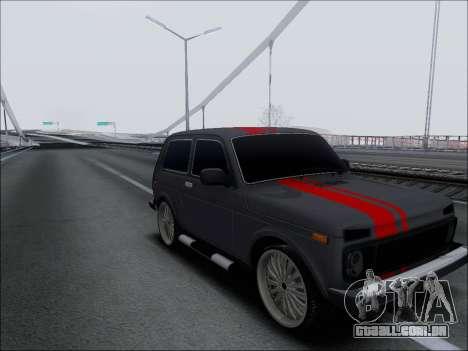 Lada Niva para GTA San Andreas vista traseira