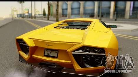 Lamborghini Reventon 2008 para GTA San Andreas vista direita