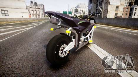 Honda CBR600RR Stunt para GTA 4 traseira esquerda vista