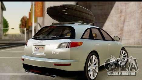 Infiniti FX 45 2007 para GTA San Andreas esquerda vista