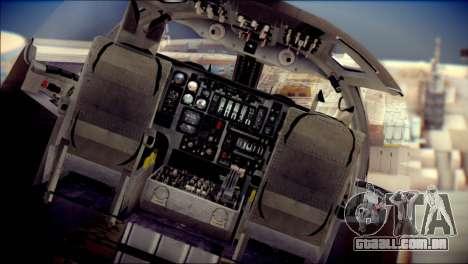 B-1B Lancer Camo Texture para GTA San Andreas vista traseira
