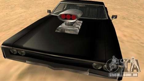 Sabre Charger para GTA San Andreas vista superior