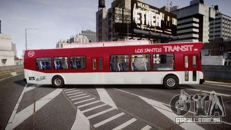 GTA V Brute Bus para GTA 4 esquerda vista