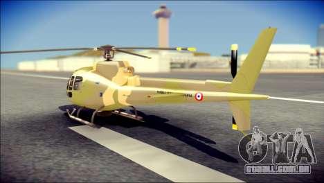Esquilo 350 Fuerza Aerea Paraguaya para GTA San Andreas esquerda vista