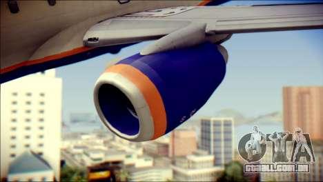 Boeing 737-800 Aeroflot para GTA San Andreas vista direita