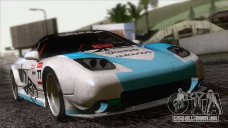 Acura NSX Miku Ghoul Itasha para GTA San Andreas vista interior