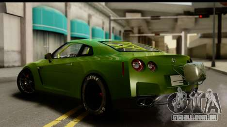 Nissan GT-R Dragster para GTA San Andreas esquerda vista
